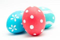 3 красочных handmade пасхального яйца Стоковое фото RF
