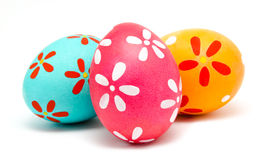 3 красочных handmade пасхального яйца Стоковые Изображения