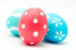 3 красочных handmade пасхального яйца Стоковое Изображение RF