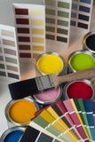 Красящ и украшающ - баки испытания - диаграммы цвета Стоковые Фото