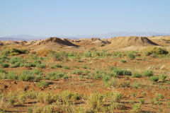 Кратеры в пустыне Стоковое Фото
