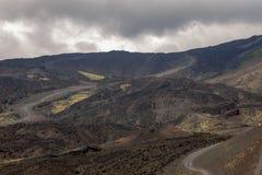 Кратеры Этна в Сицилии стоковая фотография rf
