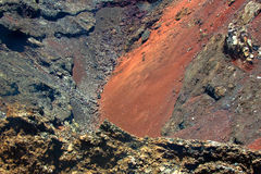 Кратер вулкана в национальном парке Timanfaya стоковое фото