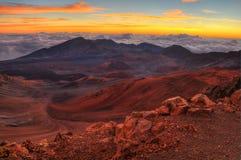 кратер вулканический Стоковое Изображение