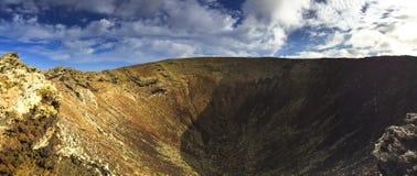 Кратер вулкана на Канарских островах Стоковые Фото