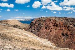 Кратер вулкана Стоковая Фотография RF