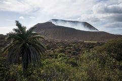 Кратер вулкана, Telica, Никарагуа Стоковые Фотографии RF