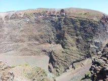 Кратер вулкана Vesuvius стоковое фото