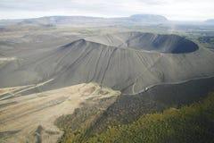 кратер Исландия стоковые фото