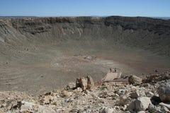 Кратер метеорита в Аризоне Стоковые Изображения RF