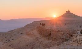 Кратер Рэймона в Israel' национальный парк s Стоковые Изображения RF