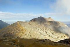 кратер ijen Стоковые Фотографии RF