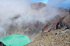 Кратер Volcan Санта-Ана, национального парка Cerro Verde, El Salvad стоковая фотография rf