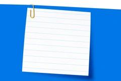 краткость бумаги письма зажима стоковое изображение