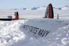 Крах воздушных судн в Антарктике Стоковые Изображения RF