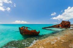 Крах корабля на пляже Стоковые Фотографии RF
