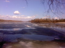Крах на реке стоковое фото rf