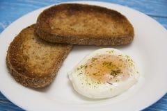 Краденное яичко с 2 здравицами Стоковая Фотография RF