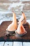 Краденные груши с специями в сиропе Стоковая Фотография