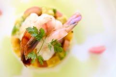 креветка еды тарелки Стоковое Изображение