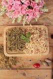 Креветка или креветка испеченные с солью очень вкусный Стоковые Изображения