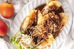 Креветка с соусом тамаринда стоковая фотография