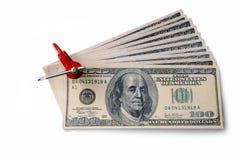 кредитки зажали доллар Стоковое фото RF