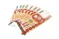 кредитки изолировали деньги тайские Стоковые Фото