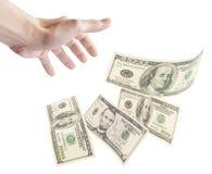 кредитки плавая человек руки самосхвата для того чтобы хотеть Стоковое фото RF