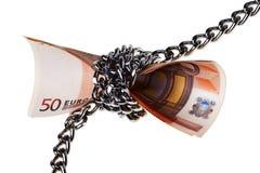 кредитки прикованные евро 50 Стоковые Фото