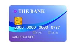 Кредитная карточка изолированная на белом background Стоковое Изображение