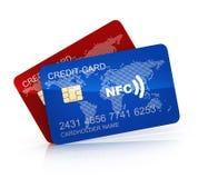 Кредитная карточка 2 на белой предпосылке Стоковая Фотография