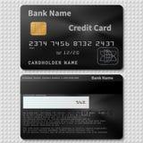 Кредитная карточка реалистического банка владельцем которого является негр пластичная при изолированный шаблон вектора обломока Стоковая Фотография RF