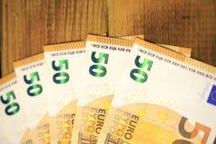 50 кредиток евро Стоковое Изображение RF