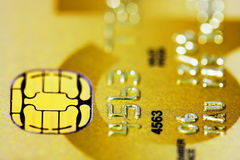 кредит карточки золотистый Стоковое фото RF