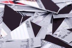 кредит карточки shredded стоковое изображение
