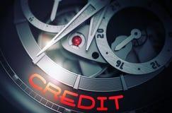 Кредит на механизме карманного вахты людей 3d бесплатная иллюстрация