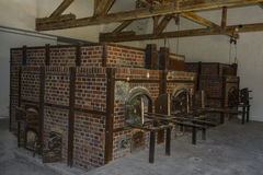Крематорий печей концентрационного лагеря Dachau стоковое изображение rf