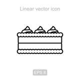 Кремовый пирог Линейный значок бесплатная иллюстрация