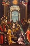 КРЕМОНА, ИТАЛИЯ, 2016: Очищение от грехов Jeusu в Chiesa di Санте Agata неизвестным художником 17 цент стоковое изображение