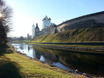 Кремль в Пскове Стоковое Изображение RF