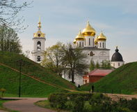 Кремль в старом русском городке Dmitrov Стоковая Фотография