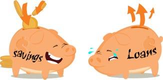 кренит piggy Стоковое Изображение RF