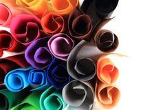 Крены бумаги цвета стоковая фотография rf