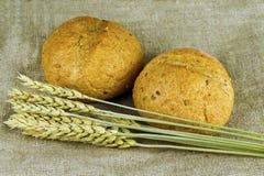 2 крены и пшеницы Стоковые Изображения
