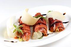 Крены и салат рыб стоковая фотография