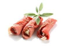 крены мяса Стоковая Фотография
