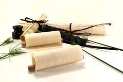крены пер papyrus inkwell Стоковые Фотографии RF