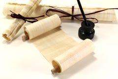крены quill papyrus Стоковое Фото