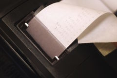крен бумаги настольного компьютера чалькулятора Стоковые Фотографии RF